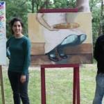 El artista Juan José Lazcano, de Berriozar gana un accesit del XVII Concurso de Pintura al Aire Libr...