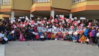 Madres y Padres en el colegio Mendialdea apoyando el programa British-Pay Foto: Óskar González