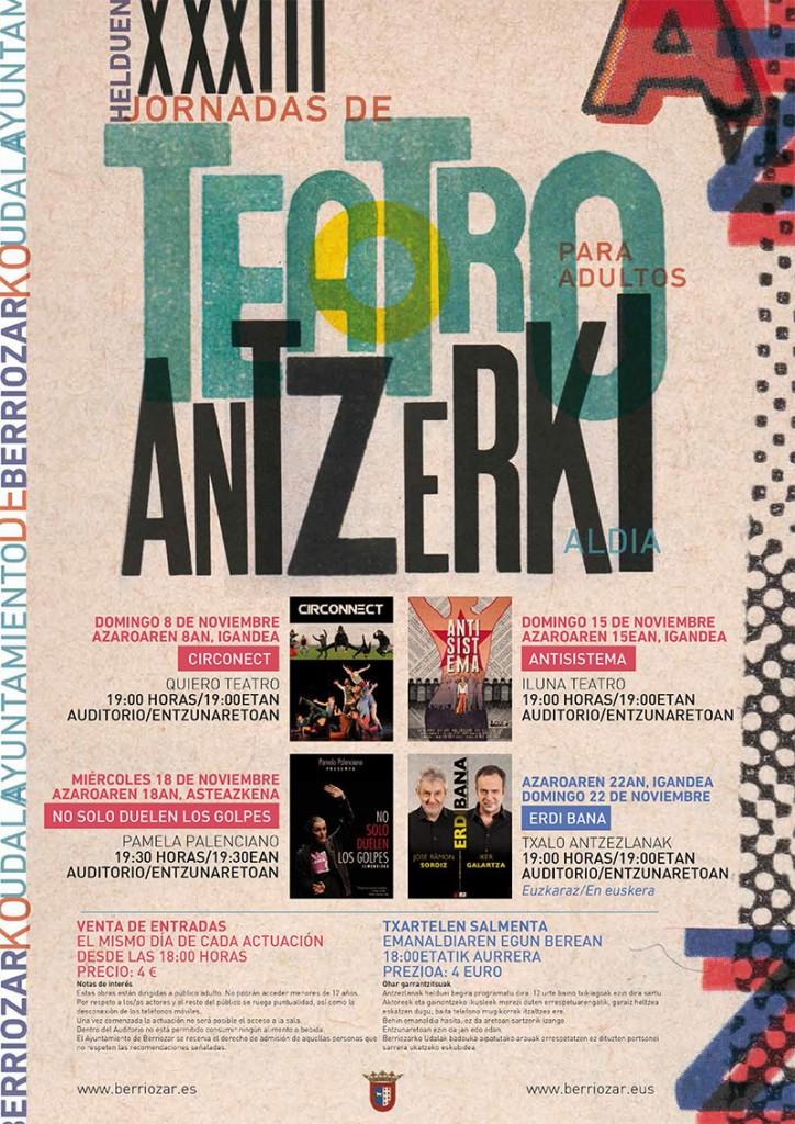 XXXIII Jornadas de Teatro / Helduen XXXIII. AntzerkIaldia
